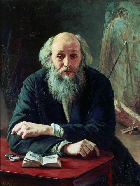 Portrait of Nikolaj Nikolajewitsch Ge, 1890 - Николай  Ярошенко
