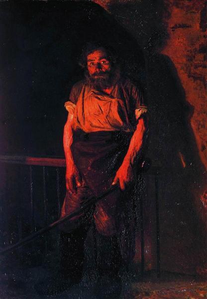 The Stoker, 1878 - Николай  Ярошенко