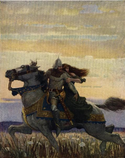 Launcelot and Guenevere, 1922 - N.C. Wyeth