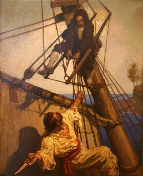 One more step, Mr. Hands, said I, and I'll blow your brains out - N.C. Wyeth