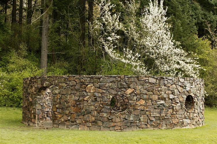 Stone Enclosure: Rock Rings, 1977 - 1978 - Nancy Holt