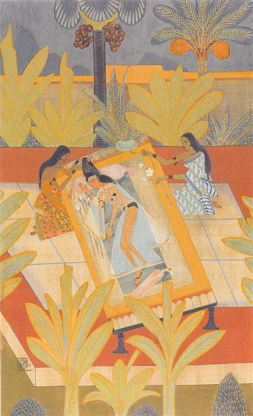 Radha's Viraha, 1936 - Nandalal Bose