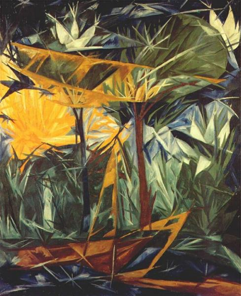Yellow and green forest, 1913 - Natalia Goncharova