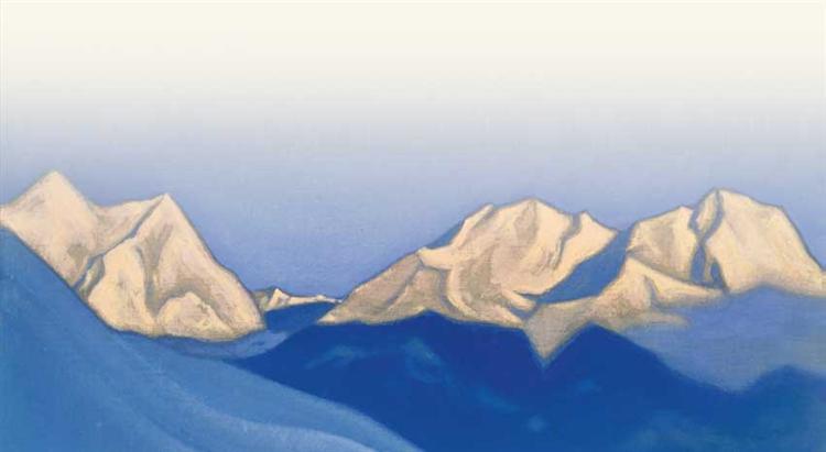 Himalayas. Pink peaks., 1947 - Nicholas Roerich