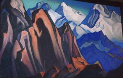 Shadow of the Teacher, 1947 - Nicholas Roerich