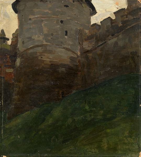 Tower of Novgorod Kremlin, c.1903 - Nicholas Roerich