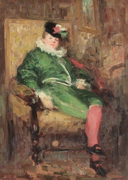 Columbine in Green - Nicolae Grigorescu