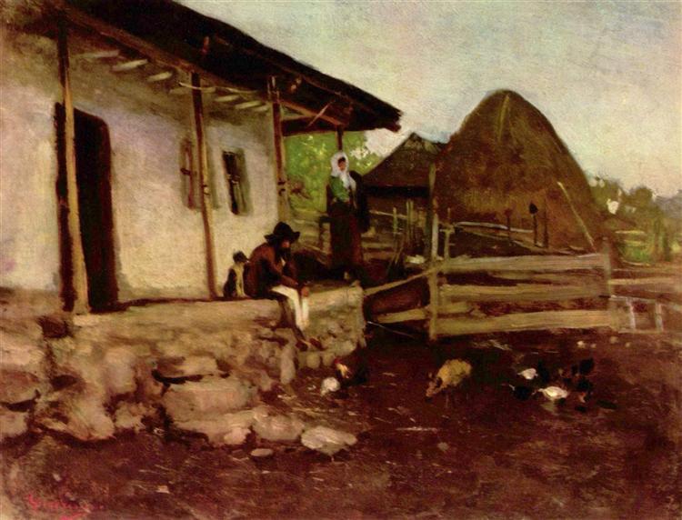 Farmhouse Yard - Nicolae Grigorescu