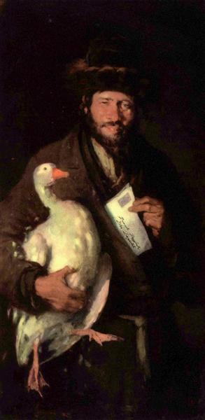 Jew with goose - Nicolae Grigorescu
