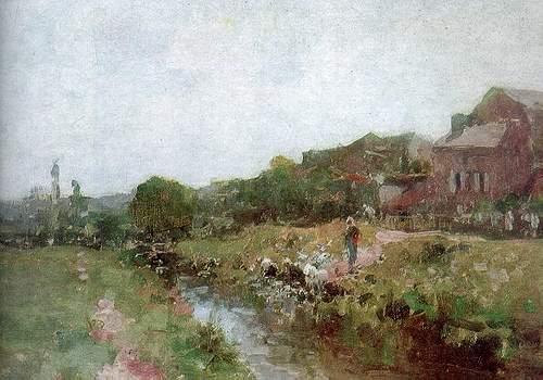 Laundrywoman in Brittany - Nicolae Grigorescu