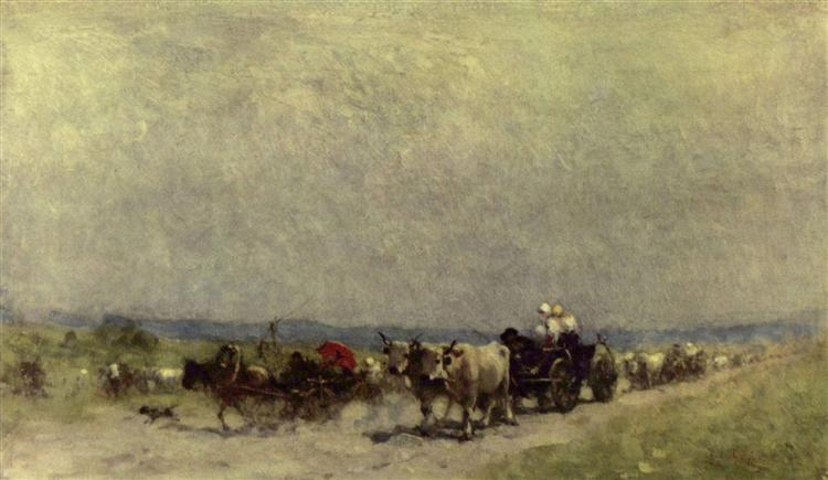 Returning from the fair - Nicolae Grigorescu