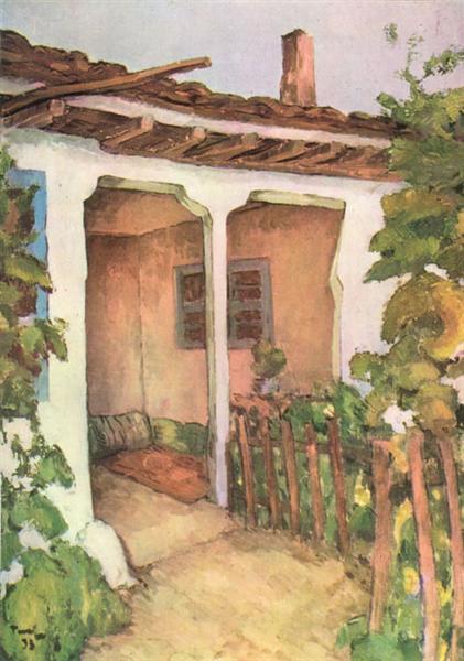 House in Dobrudja - Nicolae Tonitza