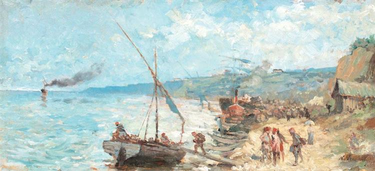Departure Towards the Open Sea, 1893 - Nicolae Vermont