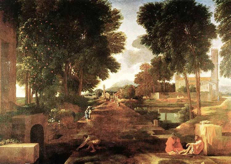 Римская дорога, 1648 - Николя Пуссен