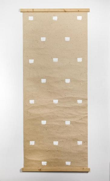 Imprints of a No. 50 Paintbrush Repeated at Regular Intervals of 30 cm., 1992 - Niele Toroni