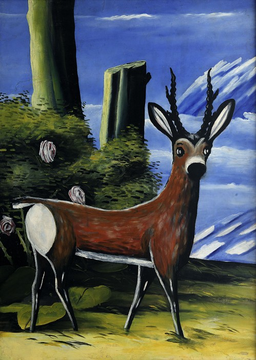 Roe deer with a Landscape in the Background, 1913