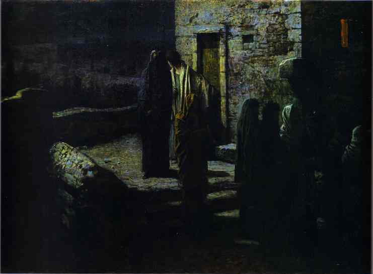 Christ and the Disciples Going out into the Garden of Gethsemane after the Last Supper, 1889 - Nikolai Ge