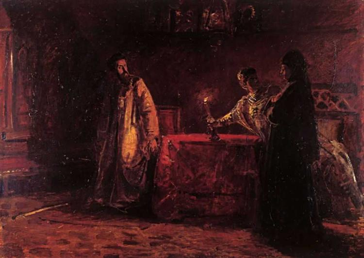Царь Борис и царица Марфа, 1874 - Николай Ге