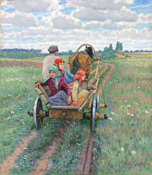 Coming after the daily work - Nikolay Bogdanov-Belsky