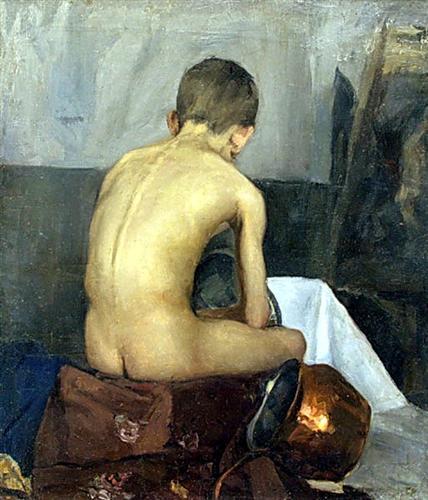 Nude Model - Nikolay Bogdanov-Belsky
