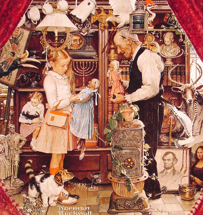 rockwell girls Norman rockwell art showing 40 of 7128 results that match your query girl at the mirror 28x30 large walnut ornate wood framed canvas art by norman rockwell.