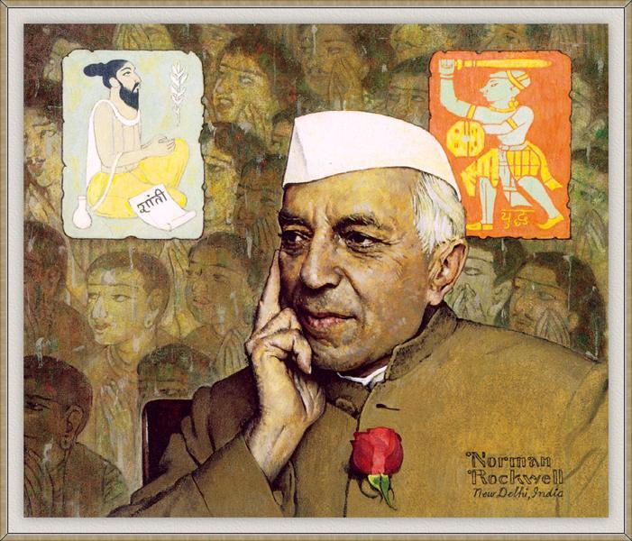 Portrait of Nehru - Norman Rockwell