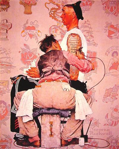 The Tattooist - Norman Rockwell