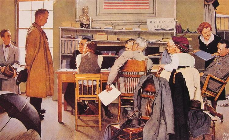 Visits a Ration Board, 1944 - Norman Rockwell
