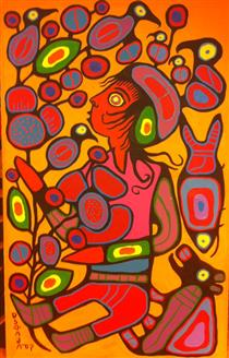 Children in the Tree of Knowledge - Norval Morrisseau