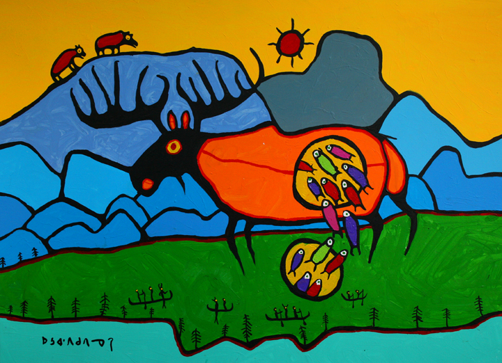 Giant Moose, 1995 - Norval Morrisseau