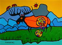 Giant Moose - Norval Morrisseau