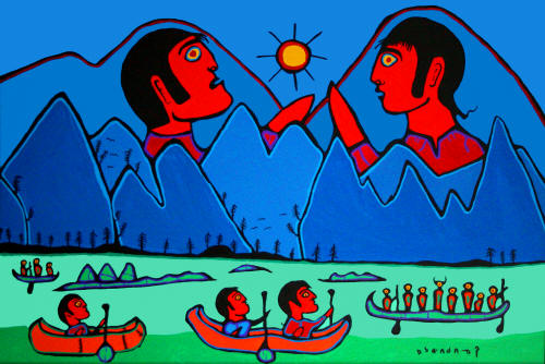 In The Land Of The Giants - Norval Morrisseau