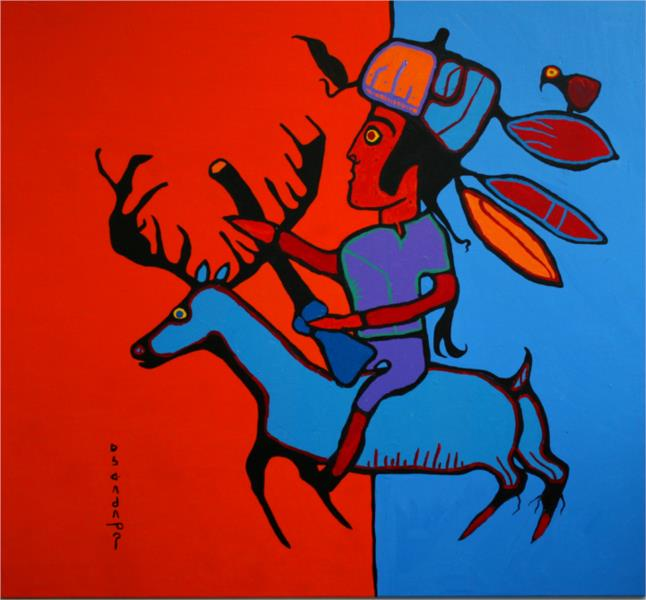 The Hunter - Norval Morrisseau