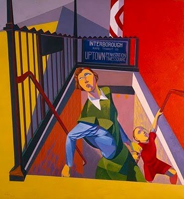 Subway Exit, 1946 - O. Louis Guglielmi