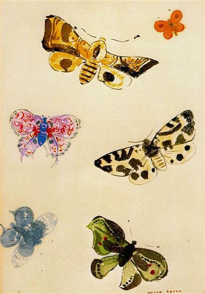 Butterflies - Odilon Redon - WikiArt.org