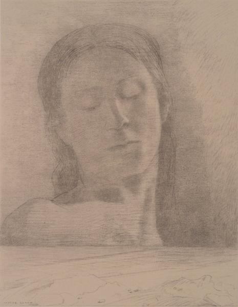 Closed Eyes, c.1890 - Odilon Redon