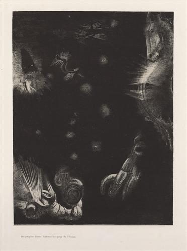 Different peoples inhabit the countries of the Ocean (plate 23) - Odilon Redon