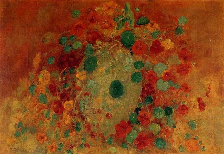 Nasturtiums, c.1912 - Odilon Redon