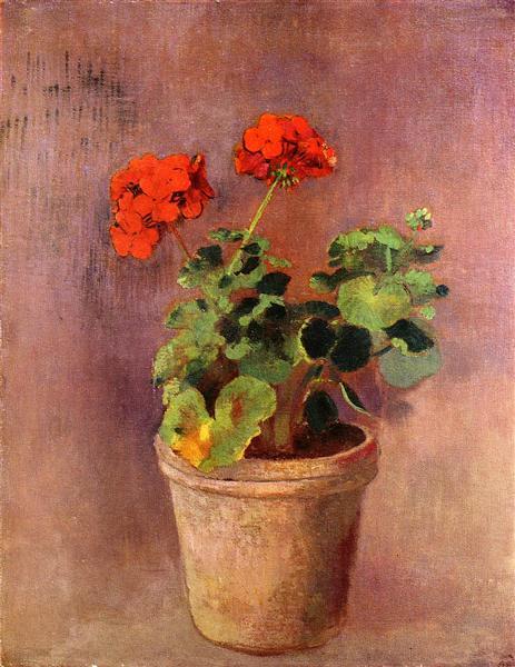The Pot of Geraniums, c.1910 - Odilon Redon
