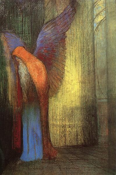 Winged Old Man with a Long White Beard, c.1900 - Odilon Redon
