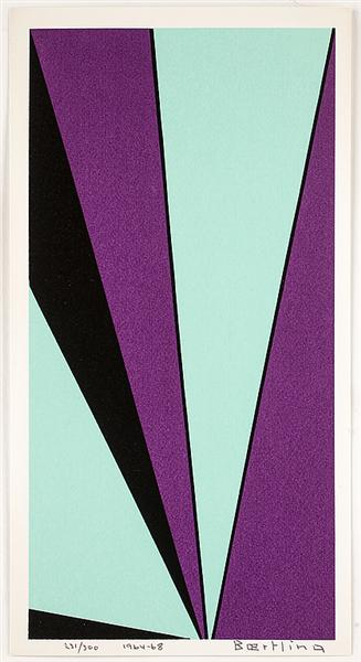 Geometric Composition (The Angles of Olle Bærtling), 1968 - Olle Baertling