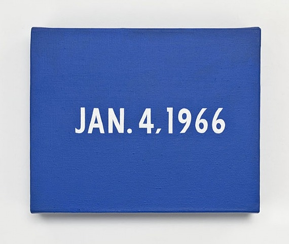 Jan. 4 1966 (from Today Series), 1966 - On Kawara