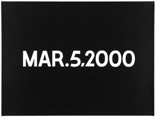 Mar. 5, 2000, 2000 - On Kawara