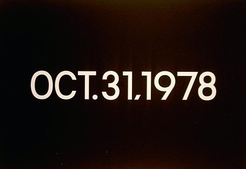 Oct. 31, 1973 (from Today Series, Tuesday), 1973 - On Kawara
