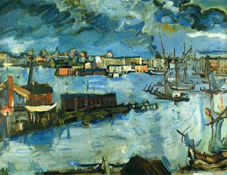 Stockholm Harbour, 1920 - Oskar Kokoschka