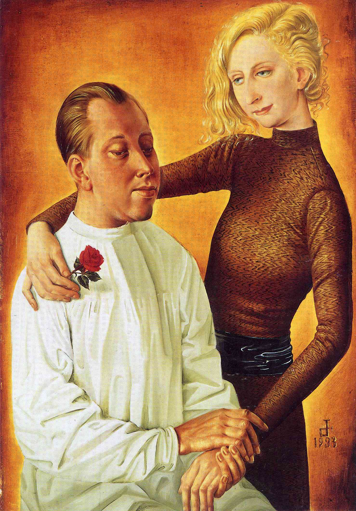 Otto Dix Portrait-of-the-painter-hans-theo-richter-and-his-wife-gisela