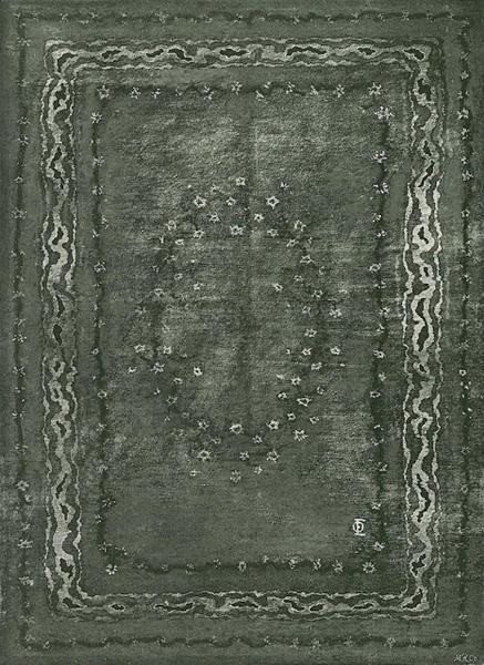 Carpet design, 1898 - Отто Екман