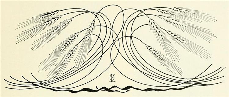 Décoration, épis de blé - Otto Eckmann