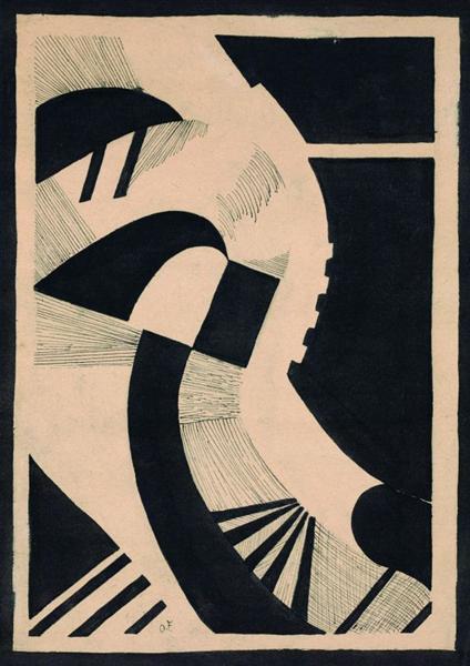 Komposition in Schwarz und Weiß, 1936 - Otto Freundlich