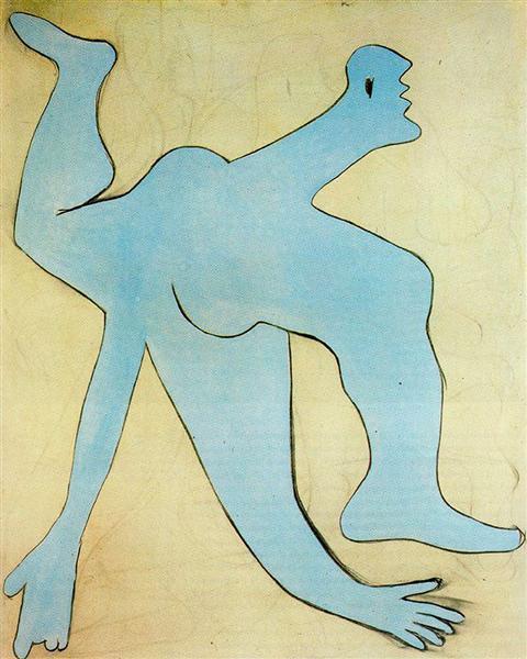 Акробат в голубом цвете, 1929 - Пабло Пикассо